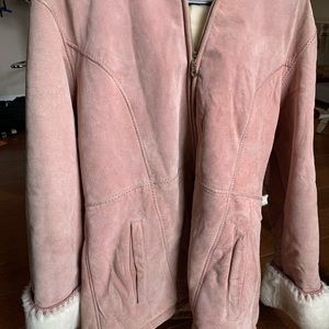 Wilson Leather Pink Suede Jacket